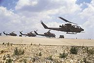 July: Operation 'Accountability'. Cobras at an airstrip in northern Israel