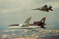 August: IAF F-15s accompany King Hussein's plane in its first flight over Israel